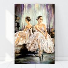 Tablou Canvas Balerina pe Ganduri FAB77