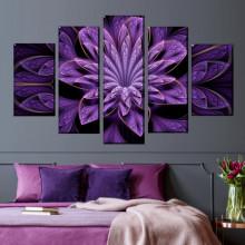 Multicanvas Floral Fractal Art ABFR12