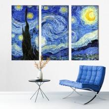 Multicanvas Noapte Instelata - Van Gogh VG22M