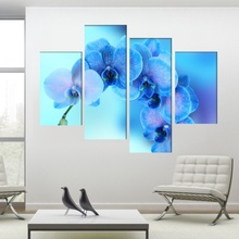 Multicanvas Orhidee Albastra ORST85