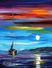 Reproducere Leonid Afremov - Lumina lunii