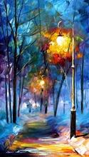Reproducere Leonid Afremov - Lumini in noapte