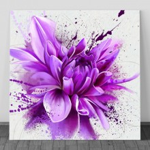 Tablou Bujor Artistic in Nuante Violet FFAR14