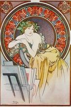 Tablou canvas Alphonse Mucha 024