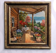 Tablou canvas cu rama maro B006M 8