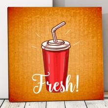 Tablou Canvas Fast Food, Fresh Drink FTS6