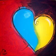 """Tablou canvas """"Inima mea"""""""