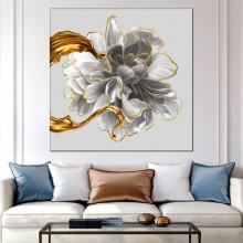 Tablou Canvas Trandafir Soft Gold ROS45