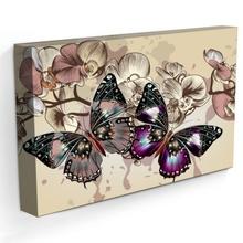 Tablou Modern Fluturi cu Orhidee