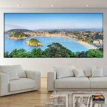 Tablou Panorama Golful San Sebastian Donostia Spania bnls35