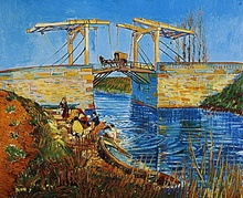1888 Vincent Van Gogh   Pont à Arles, le pont Langlois  hsst