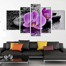 Multicanvas Orhidee Mov cu Pietre Vulcanice ft699