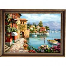 Tablou Peisaj de Vacanta, Canvas+Rama OPJ2