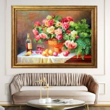 Tablou Vaza cu Flori, Canvas+Rama OPJ11