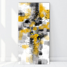 Tablou Canvas Abstract Yellow Spots ATF41