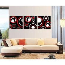 Multicanvas Arta Digitala Negru, Rosu, Alb mcsta1