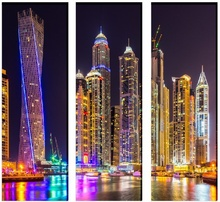 Multicanvas Dubai in Luminile Noptii