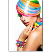 Tablou Armonia culorilor in coafura si machiaj femeie bgp19