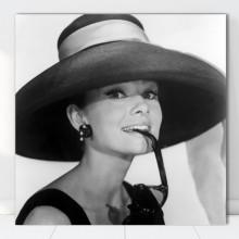 Tablou Canvas Audrey Hepburn cu Palarie VR40