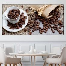 Tablou Canvas Ceasca Cu Boabe De Cafea ACOF26