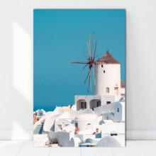 Tablou Canvas Moara de Vant Santorini, Grecia GR50