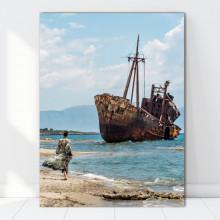 Tablou Canvas Naufragiu pe Malul Grecesc GR57