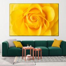 Tablou Canvas Trandafir Galben Stralucitor ROS26