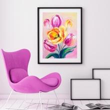 Tablou Modern Lalele Galbene si Roz