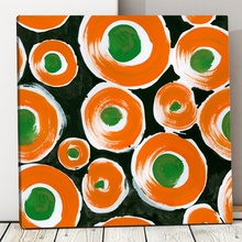 Tablou Modern Orange-Circles BAB27