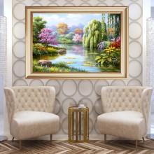 Tablou Peisaj Natura, Canvas+Rama OPJ5