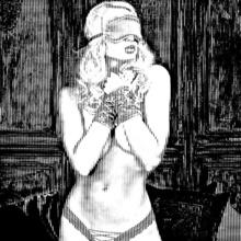 Tablou canvas nud alb-negru avangard2