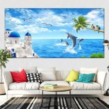 Tablou Canvas Peisaj de Vis In Grecia OPO57
