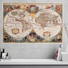 Tablou Harta Lumii Vintage, OLM1