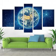 Multicanvas Planeta Pamant Vedere din Spatiu OUS71