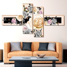 Multicanvas Trandafiri Galbeni cu Bujori MC162