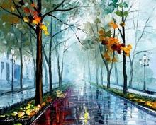 Reproducere Leonid Afremov - Parc in ceata