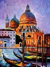 Reproducere Leonid Afremov - Venetia noaptea