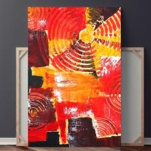 Tablou Abstract Vibratie Rosie EXA15