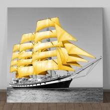 Tablou Barca cu Panze Galbene OPO261
