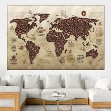 Tablou Cafea Harta Lumii, OPO183