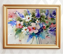 Tablou canvas cu rama aurie b006 13