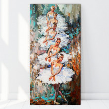 Tablou Canvas Frumoasele Balerine cu Rochii Albe FAB24