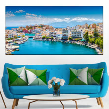 Tablou Canvas Oras Pitoresc Agios Nikolaos, Creta, Grecia GRTV27