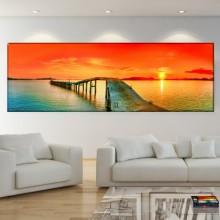 Tablou Canvas Ponton la Ocean NPAN3