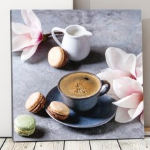 Tablou Ceasca de Cafea cu Magnolie CMH79