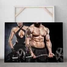 Tablou Cuplu Fitness Body Building PFGT67