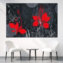 Tablou Decorativ cu Flori Rosii FFAR27