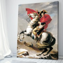 Tablou Napoleon Bonaparte Rossing The Alps Jacques Louis David TRC1