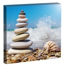 Tablou pietre zen pe plaja st1497