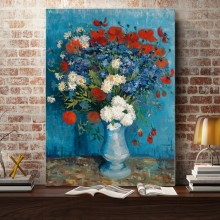 Tablou Van Gogh - Vaza cu Maci si Albastrele VG45